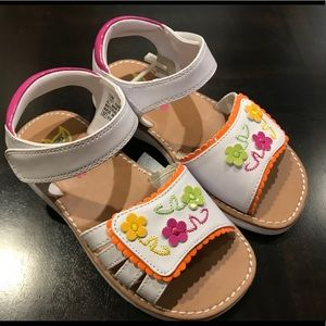 Rachel Shoes Kiara White/Multi Girls Sandals